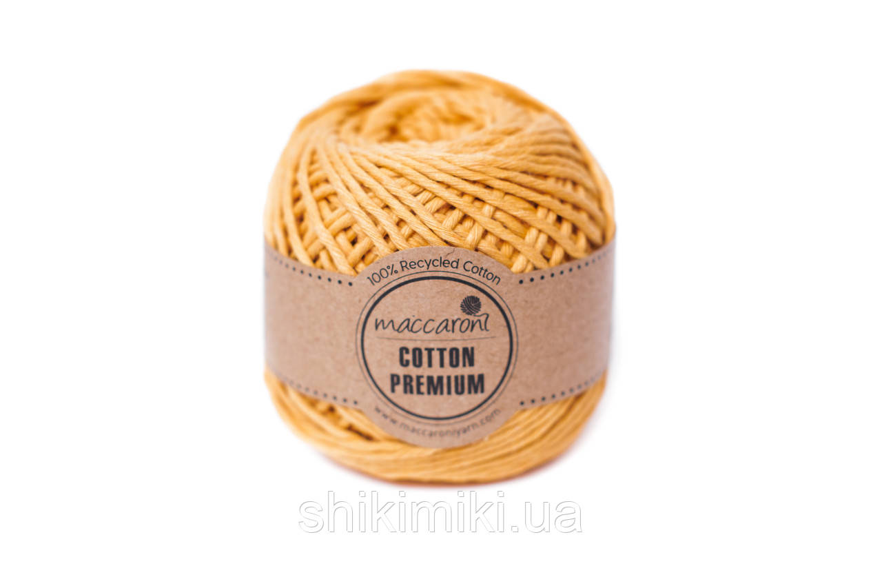 Эко шнур Maccaroni Cotton Premium,цвет горчичный