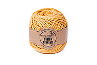 Эко шнур Maccaroni Cotton Premium, цвет горчичный