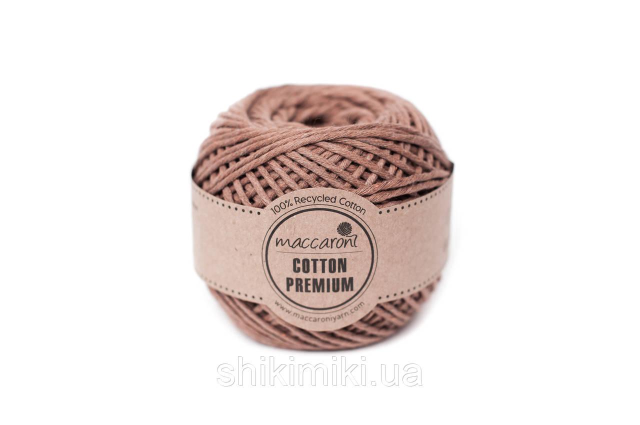 Эко шнур Maccaroni Cotton Premium,цвет какао