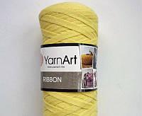 Турецкая пряжа для вязания YarnArt Ribbon ( риббон ) для сумок, ковриков , корзин - 754 желтый