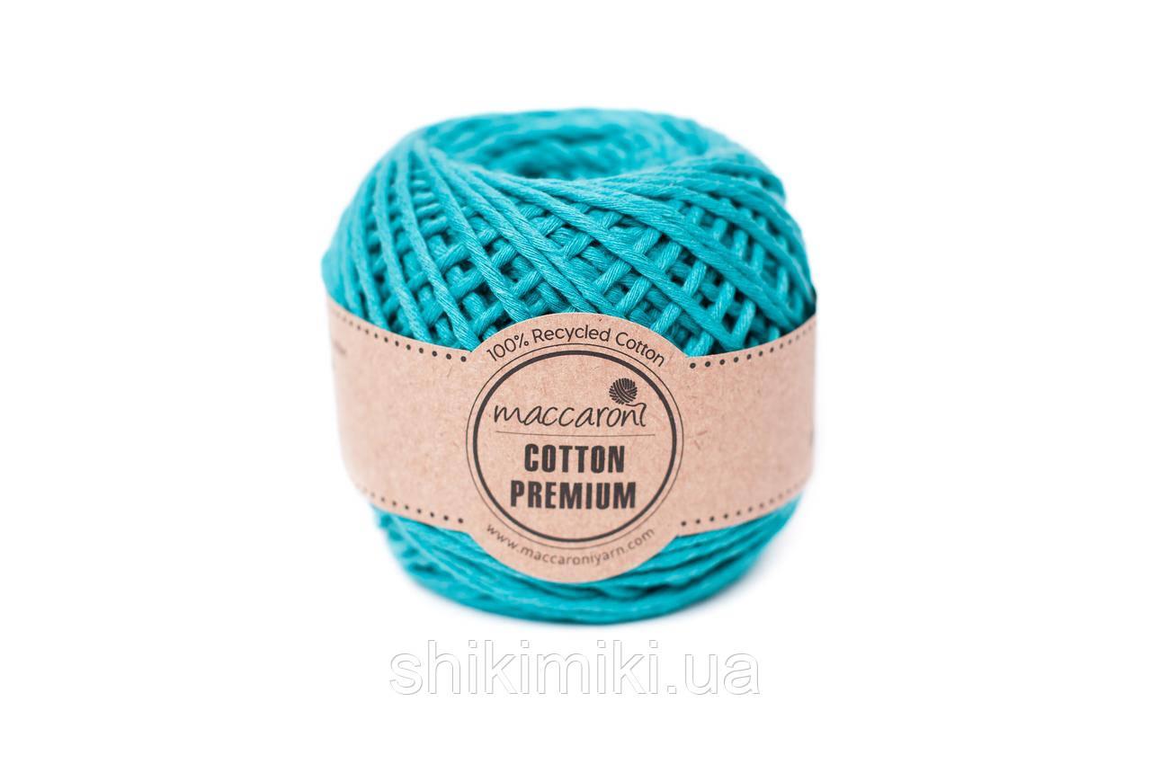 Эко шнур Maccaroni Cotton Premium,цвет бирюзовый