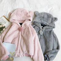 Кофта плюшевая женская утепленная с ушками Мишка, фото 1