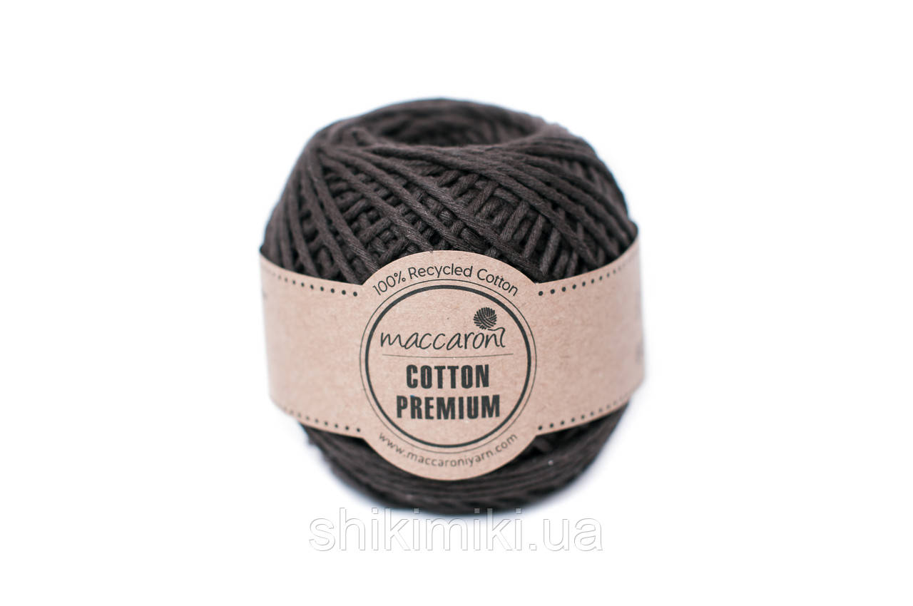 Эко шнур Maccaroni Cotton Premium,цвет шоколадный