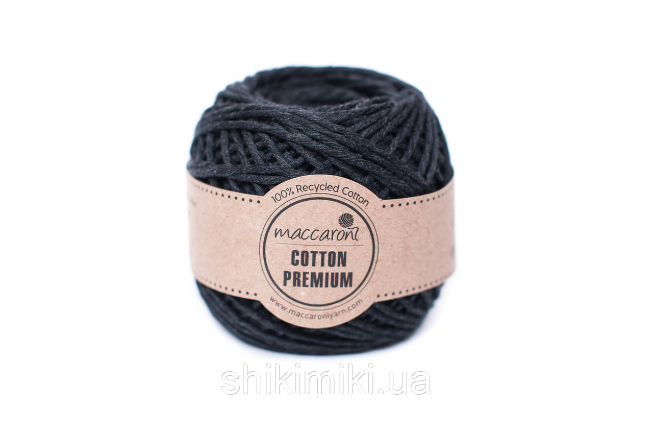 Эко шнур Maccaroni Cotton Premium 2 мм,цвет Графитовый