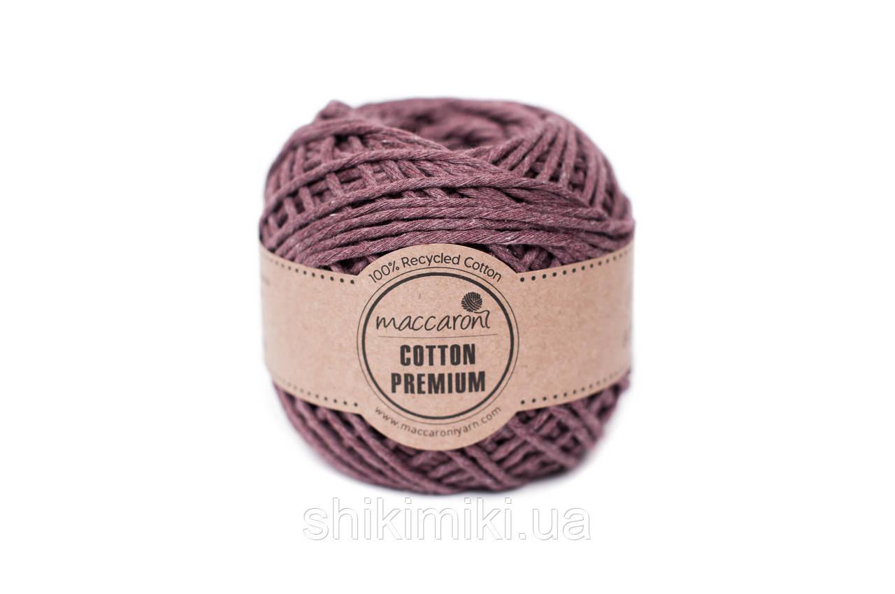 Эко шнур Maccaroni Cotton Premium 2 мм,цвет лиловый