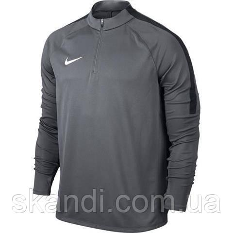 Толстовка мужская Nike Squad Drill Top серая 807063 021