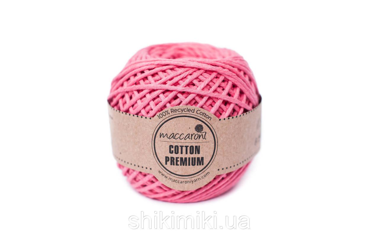 Эко шнур Maccaroni Cotton Premium 2 мм,цвет розовый корал