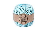 Эко шнур Maccaroni Cotton Premium 2 мм,цвет Тиффани