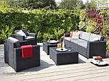 Набір садових меблів California Grande Lounge Set зі штучного ротанга ( Allibert by Keter ), фото 6