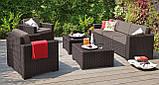 Набір садових меблів California Grande Lounge Set зі штучного ротанга ( Allibert by Keter ), фото 8