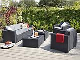 Набір садових меблів California Grande Lounge Set зі штучного ротанга ( Allibert by Keter ), фото 10