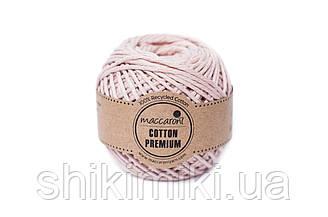 Эко шнур Maccaroni Cotton Premium 2 мм, цвет пудровый