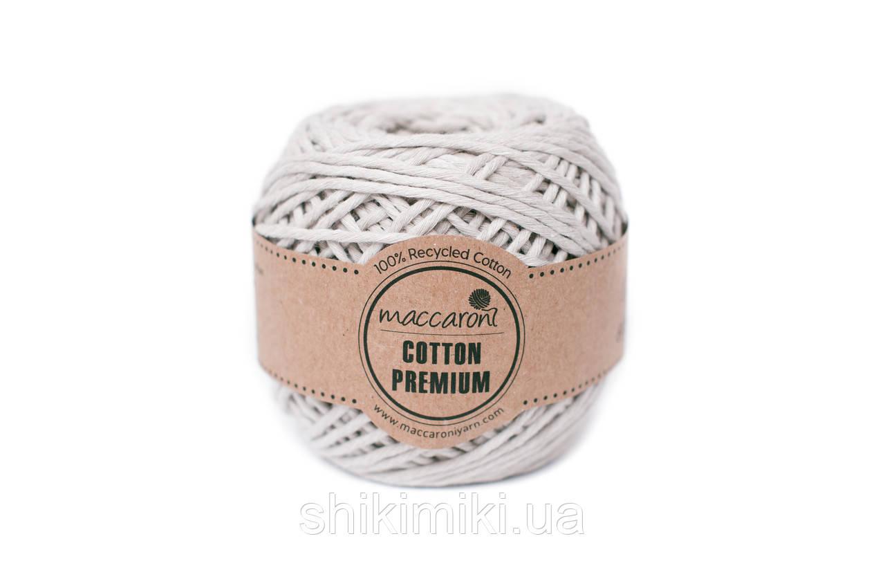 Эко шнур Maccaroni Cotton Premium 2 мм, цвет лен