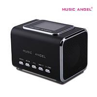 Портативная колонка Music Angel JH-MD05X - MicroSD, USB, MP3, FM радио, чёрная, фото 1
