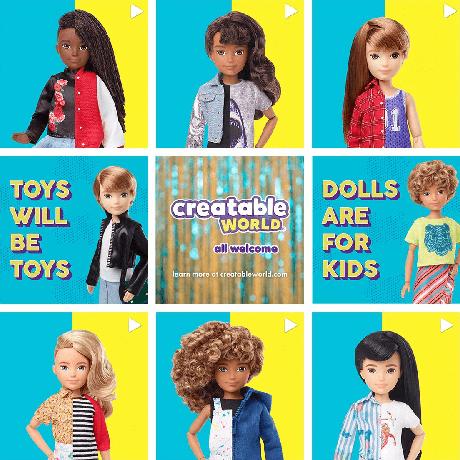Куклы Creatable World от Mattel. Мальчик или девочка, вы решаете сами!
