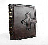 Кожаная обложка для книги на застежке, фото 1