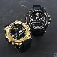 Часы Касио Джи-шок Casio G-Shock GLG-1000 Черные с Металлом  Спортивные, Мужские, чоловічий годинник, чорні