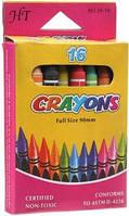 """Мелки восковые """"Crayons"""", 16 цветов - Shantou"""