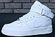 Зимние мужские кроссовки Nike Air Force 1 High White c мехом (Найк Аир Форс белые), фото 2