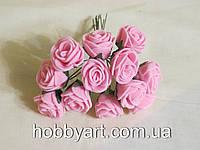 Цветочки из фоамирана 2см (12шт), фото 1