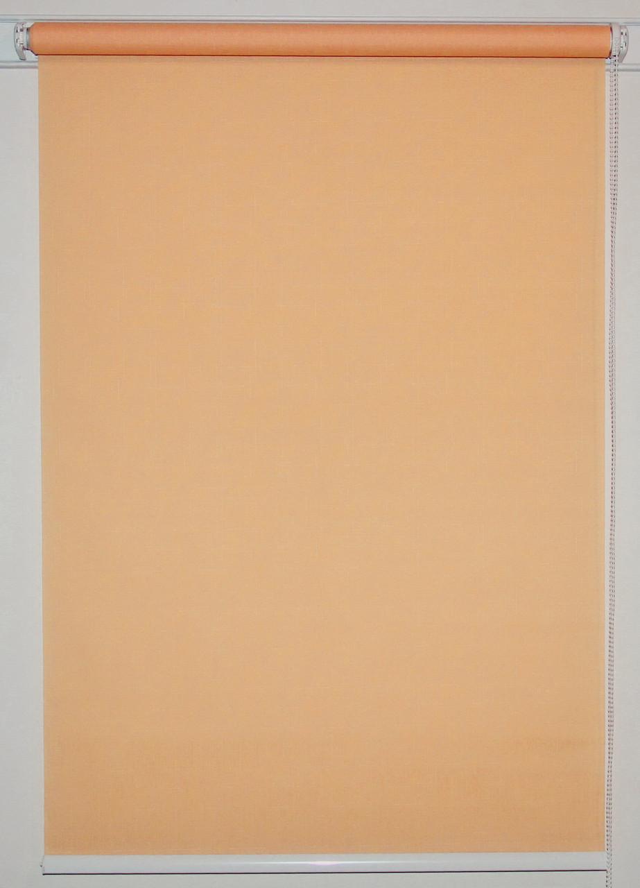 Готовые рулонные шторы 300*1500 Ткань Лён 2071 Коралл, фото 1
