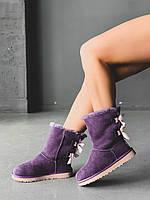 Зимние угги UGG Classic II Mini Violetна меху, фото 1