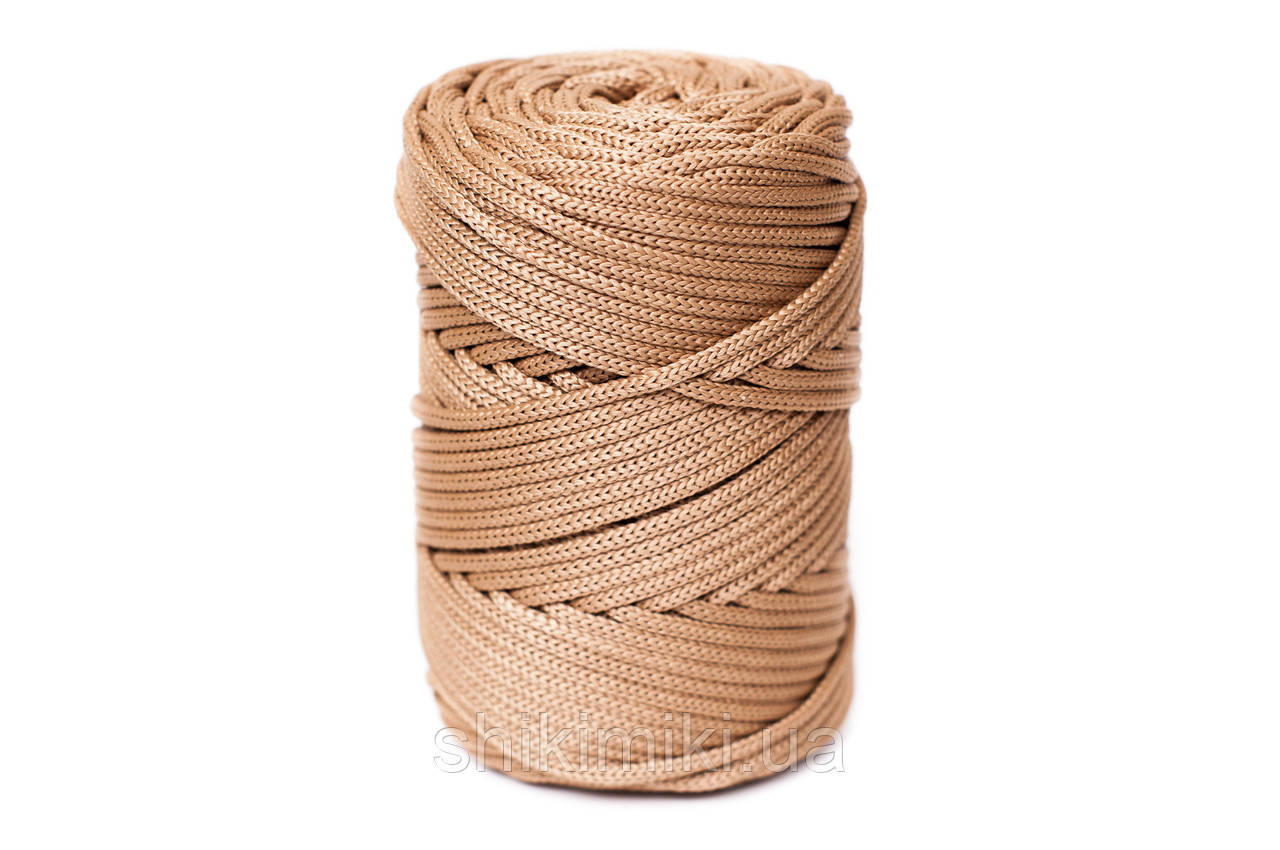 Трикотажный полипропиленовый шнур PP Cord 5 mm, цвет Ириска