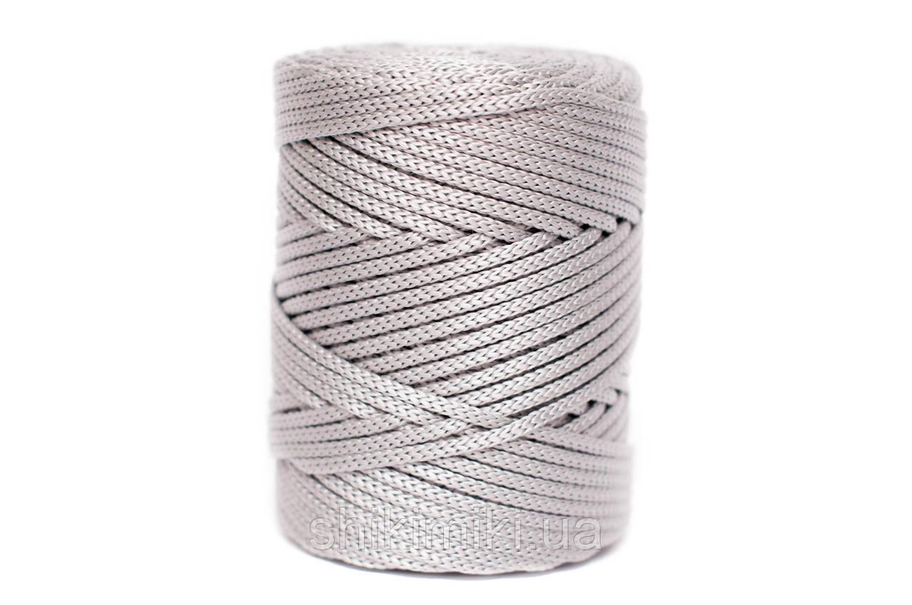 Трикотажный полипропиленовый шнур PP Cord 5 mm, цвет Серебро
