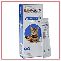 Капли Bravecto 2,8-6,25 кг Spot-On (Бравекто Спот-Он) от блох и клещей для Кошек