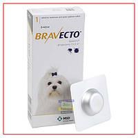 Таблетки Bravecto 2-4,5 кг (Бравекто) от блох и клещей для Собак