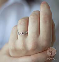 Серебряное кольцо корона в стиле минимализм