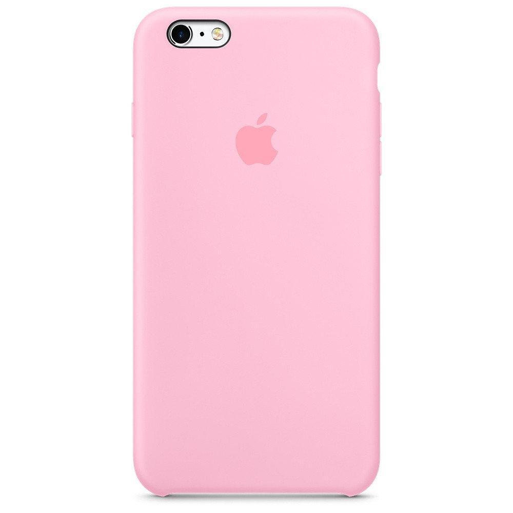 Женский чехол iPhone 6 (S) нежно розовый Silicone case