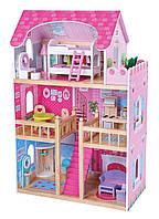 Домик 1039 для кукол деревянный с мебелью (90 х 59 х 33 см), фото 1
