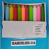 Свечи декоративные столовые цветные 40 штук, фото 2