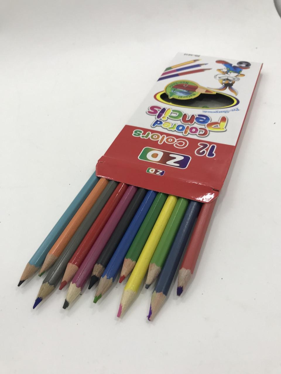 Набор цветных карандашей Colour pencils 7-12, 12 шт