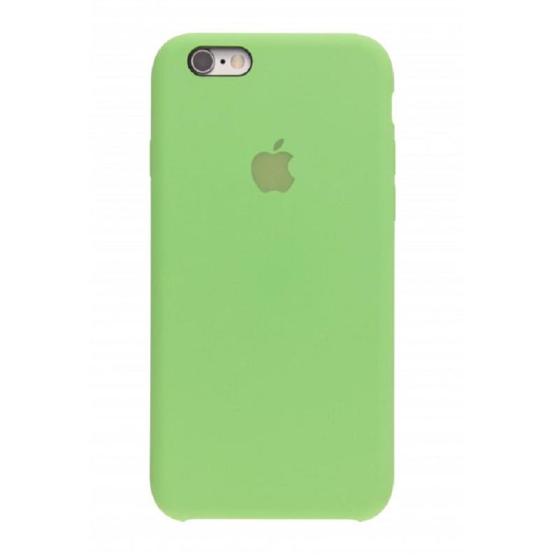 Силиконовый чехол iPhone 6 (S) светло зеленый