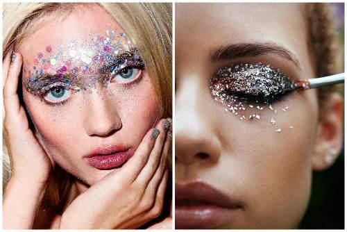 макияжи с блестками