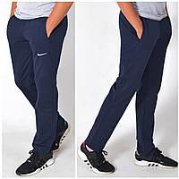 Мужские спортивные штаны Nike (Найк) / Хлопок /Трикотаж двухнитка / Размеры 44,46,48,50,52,54 / темно-синие