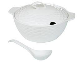Супница фарфоровая с половником 359-476