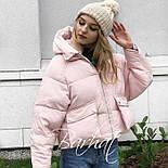 😜Куртка - Короткая зимняя куртка розовая, фото 2