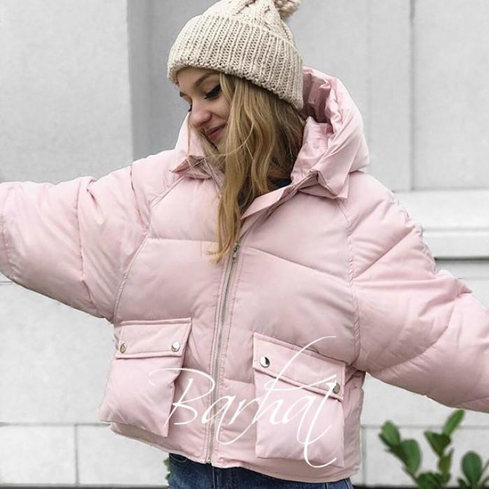 😜Куртка - Короткая зимняя куртка розовая