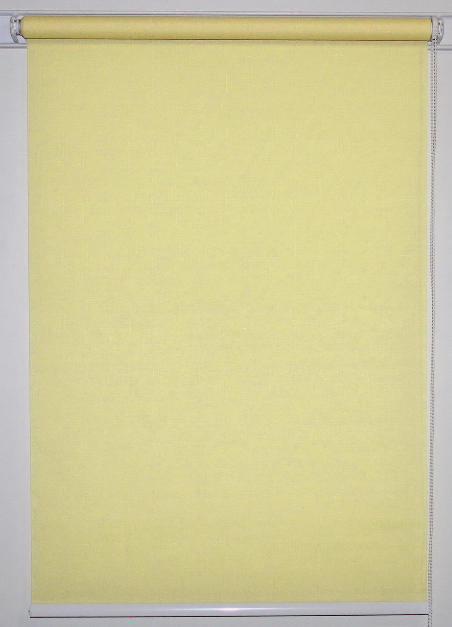 Готовые рулонные шторы 800*1500 Ткань Лён 2072 Ваниль