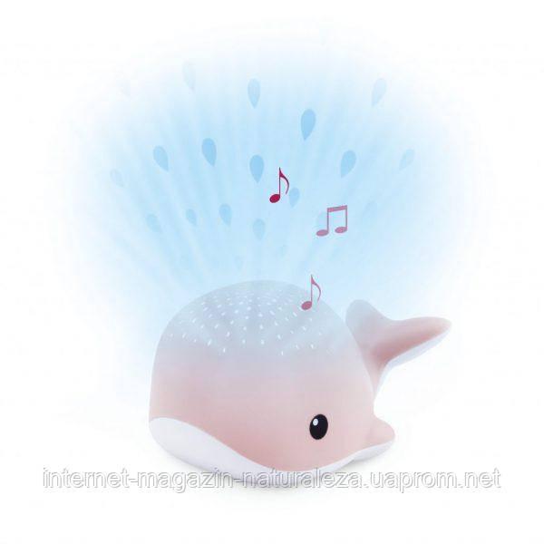 Детский ночник проектор капель воды с успокаивающими мелодиями Zazu Wally Кит