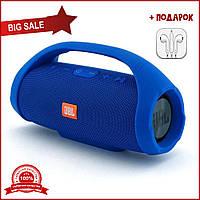 Портативная bluetooth колонка JBL Boombox mini синий. Жбл бумбокс