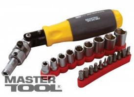 MasterTool  Отвёртка реверсивная с карданом с комплектом насадок 20 эл, Арт.: 40-0515