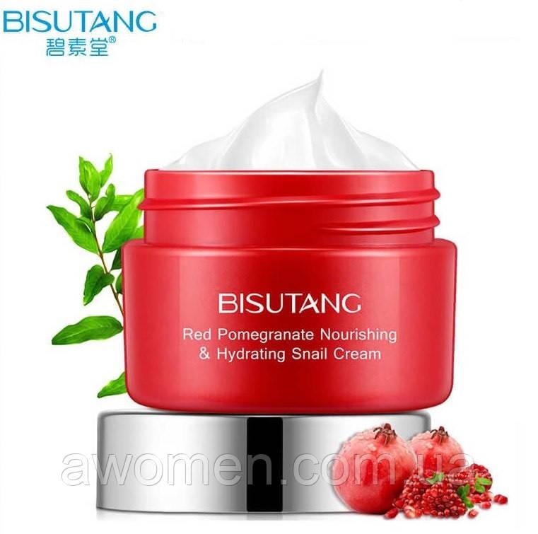 Крем для лица Bisutang Red Pomegranate & Snail Cream с экстрактом граната и улитки 30 g