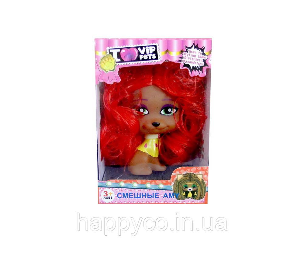 """Собачка """"Смешные Amy"""" красная, детская игрушка"""