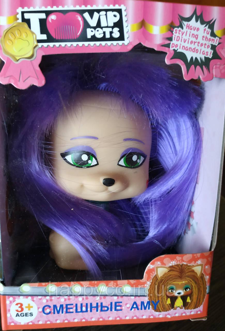 """Собачка """"Смешные Amy"""" фиолетовая, детская игрушка"""