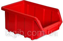 Емкость для мастерской красная средняя, 250x160x130 мм