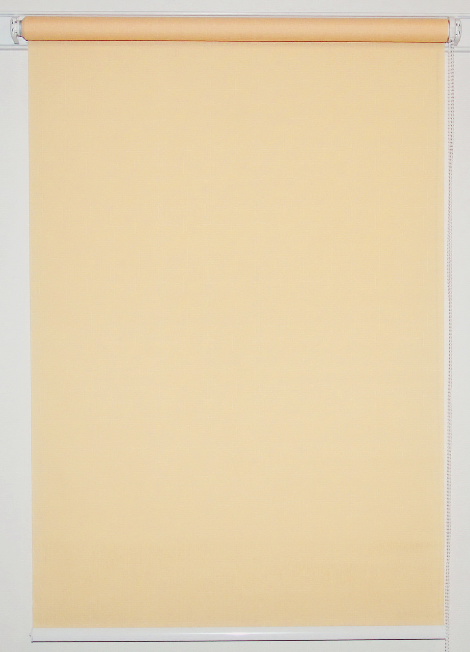 Рулонная штора 925*1500 Ткань Лён 877 Персик